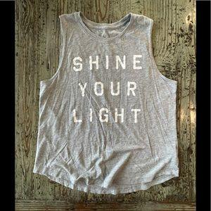 Spiritual Gangster Shine your Light Gray Tank